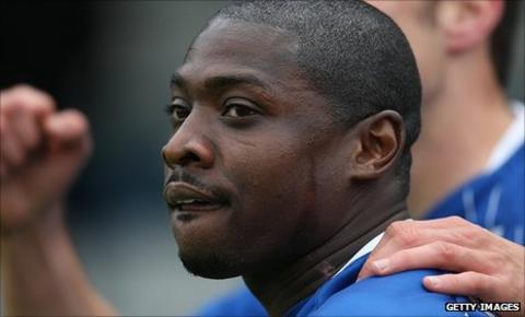 Gillingham striker Jo Kuffour