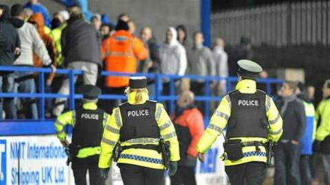 Police move in to restore order at Mourneview Park