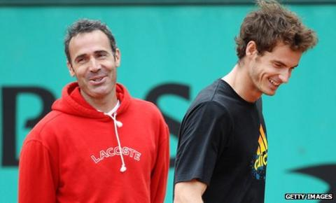 Alex Corretja (left) and Andy Murray