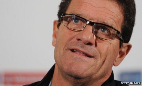 England manager Fabio Capello