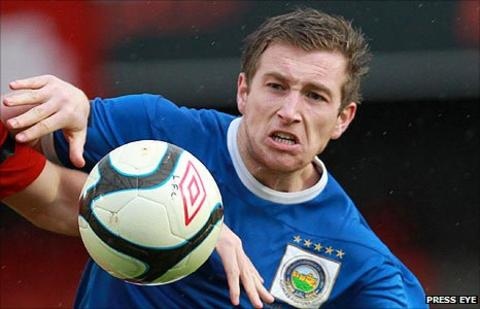 Mark McAllister is Linfield's top scorer this season