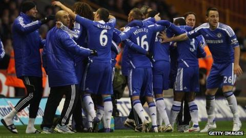 Chelsea celebrate with John Terry