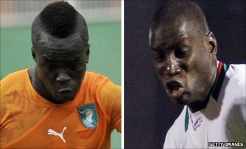 Cheik Tiote (left) and Demba Ba