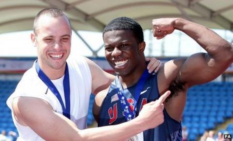 Oscar Pistorius and Jerome Singleton