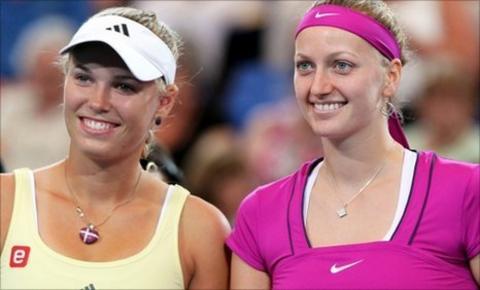 Caroline Wozniacki and Petra Kvitova