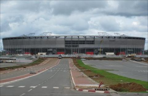 The stadium in Bata
