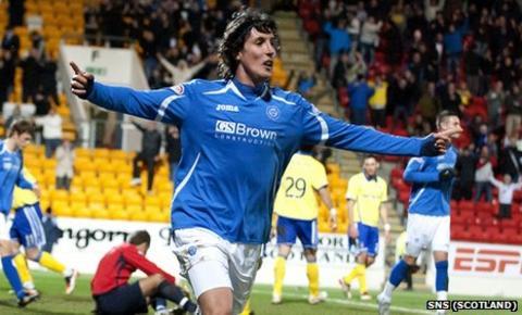 St Johnstone striker Francisco Sandaza