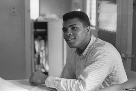 Muhammad Ali, then known as Cassius Clay, in February 1964
