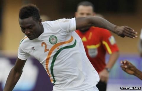 Niger striker Moussa Maazou