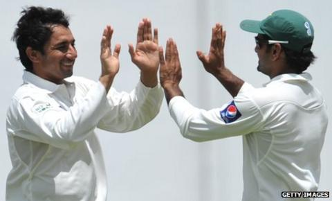Saeed Ajmal and Mohammad Hafeez
