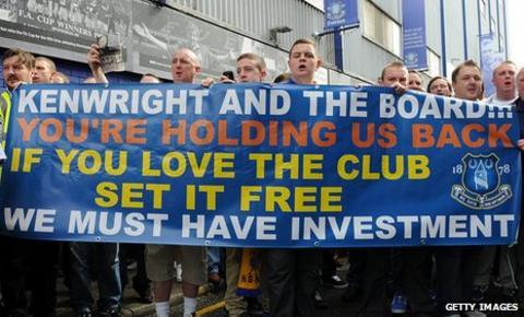 Everton protest