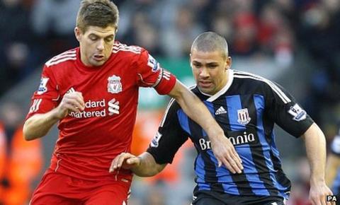 Steven Gerrard and Jonathan Walters