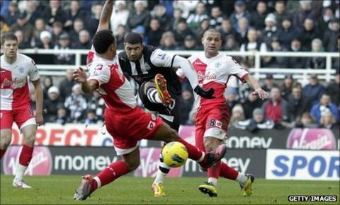 Leon Best's curling strike puts Newcastle ahead