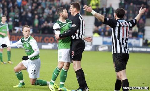 Dunfermline lost out to fellow strugglers Hibs on Saturday