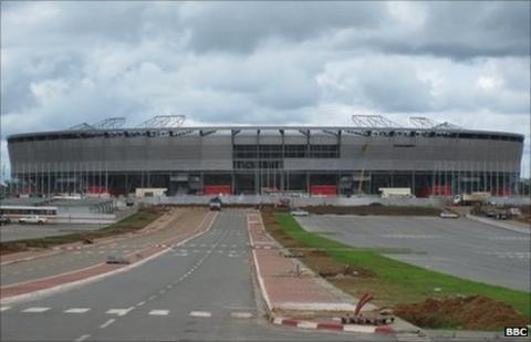 The stadium in Bata
