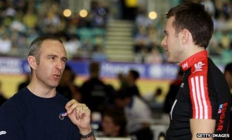 Ross Edgar (right) with GB team sprint predecessor Jamie Staff