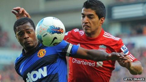 Patrice Evra & Luis Suarez