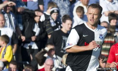 Ayr United striker Mark Roberts
