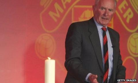Harry Gregg at Manchester United's 50th anniversary of the Munich air disaster