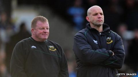Dorian West and Jim Mallinder