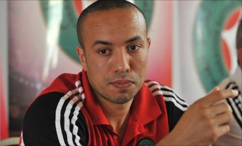 Morocco captain Houssine Kharja