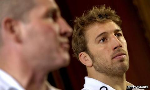 Interim England boss Stuart Lancaster and new captain Chris Robshaw