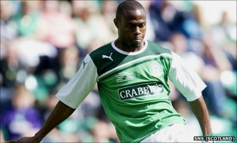 Hibernian striker Akpo Sodje