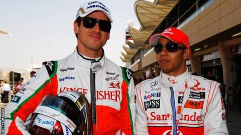 Sutil and Hamilton are close friends and were in the same nightclub at the time of the incident