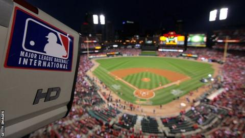 A camera at the final game of the 2011 World Series