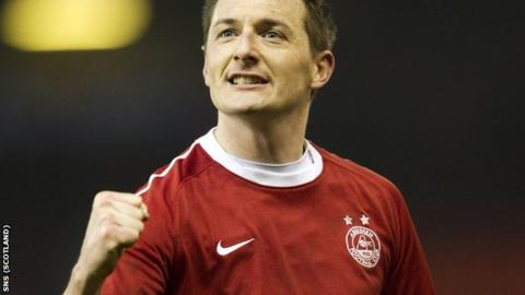 David McNamee in action for Aberdeen