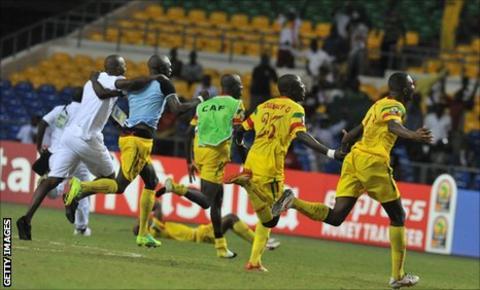 Mali national team celebrate