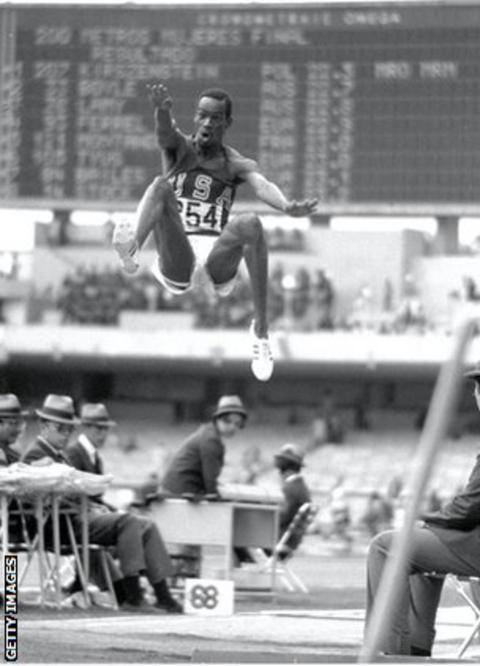 Bob Beamon's historic leap in 1968