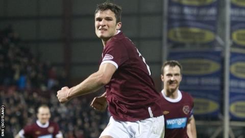 Sutton has scored three goals this season for Hearts