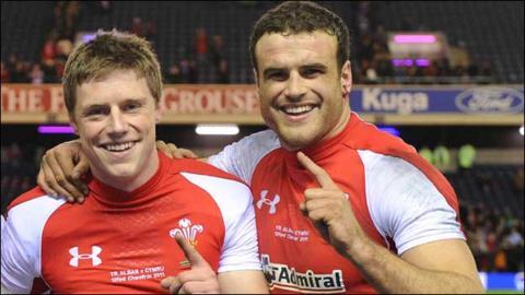 Rhys Priestland and Jamie Roberts