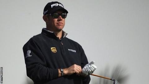 England's world number three Lee Westwood is six shots off the lead