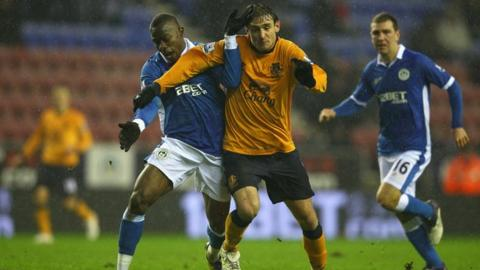 Nikica Jelavic came off the bench to make his debut for Everton