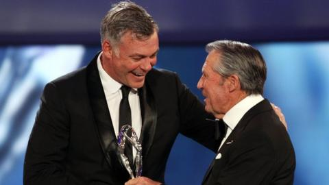 Darren Clarke and Gary Player