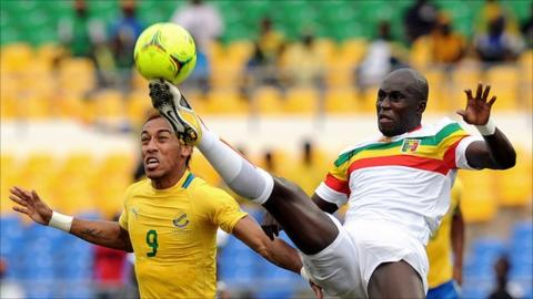 There were empty seats during the Nations Cup quarter-final defeat of co-hosts Gabon to Mali on Sunday
