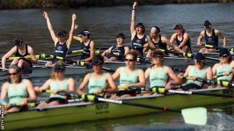 Oxford beat Cambridge by a length in last year's women's Boat Race