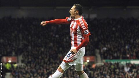 Stoke City winger Matthew Etherington