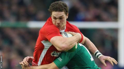 George North became the youngest player to score 10 international tries