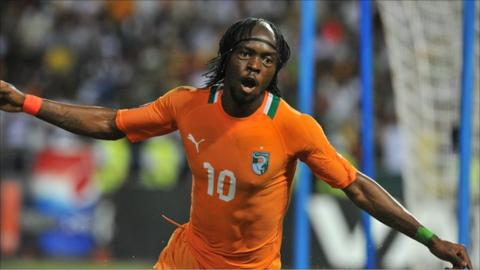 Gervinho's first goal of the tournament took Ivory Coast to the final