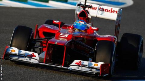 Ferari's new F2012 car