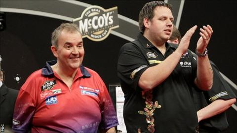 Phil Taylor and Adrian Lewis