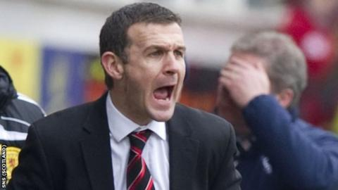 Dunfermline manager Jim McIntyre