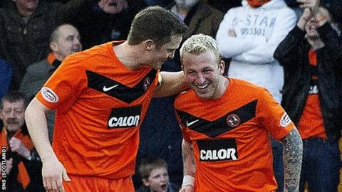 Jon Daly and Johnny Russell both scored against St Johnstone