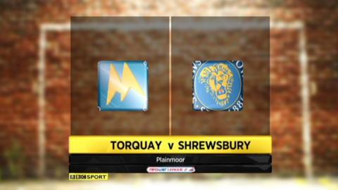Highlights - Torquay 1-0 Shrewsbury