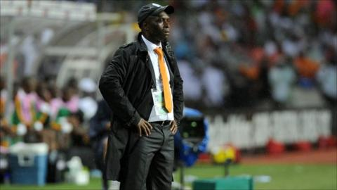Ivory Coast coach Francois Zahoui looks on during the Africa Cup of Nations final