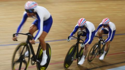 British para-cycling team