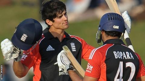 Alastair Cook and Ravi Bopara